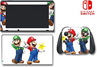 New Super Mario Bros 3D Land World 2 Luigi Video Game Vinyl Decal Skin Sticker Cover for Nintendo Switch Console System