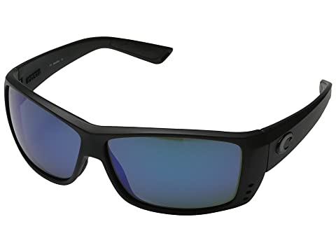 Costa Cat Cay 580 Mirror Glass Black/Blue Mirror 580 Glass Lens Running Sunglasses 8203875