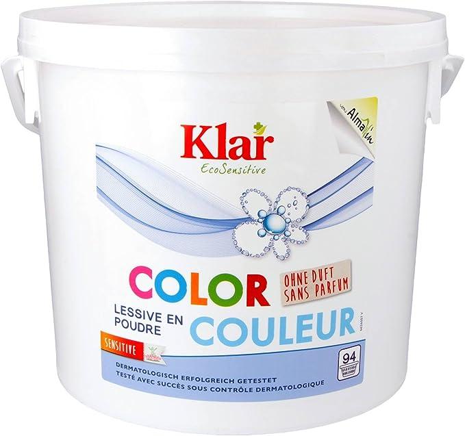 Klair detergente de color sin perfume, bolsa grande
