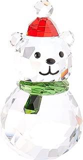 SWAROVSKI Rocking Polar Bear, red, Green and Clear Crystal