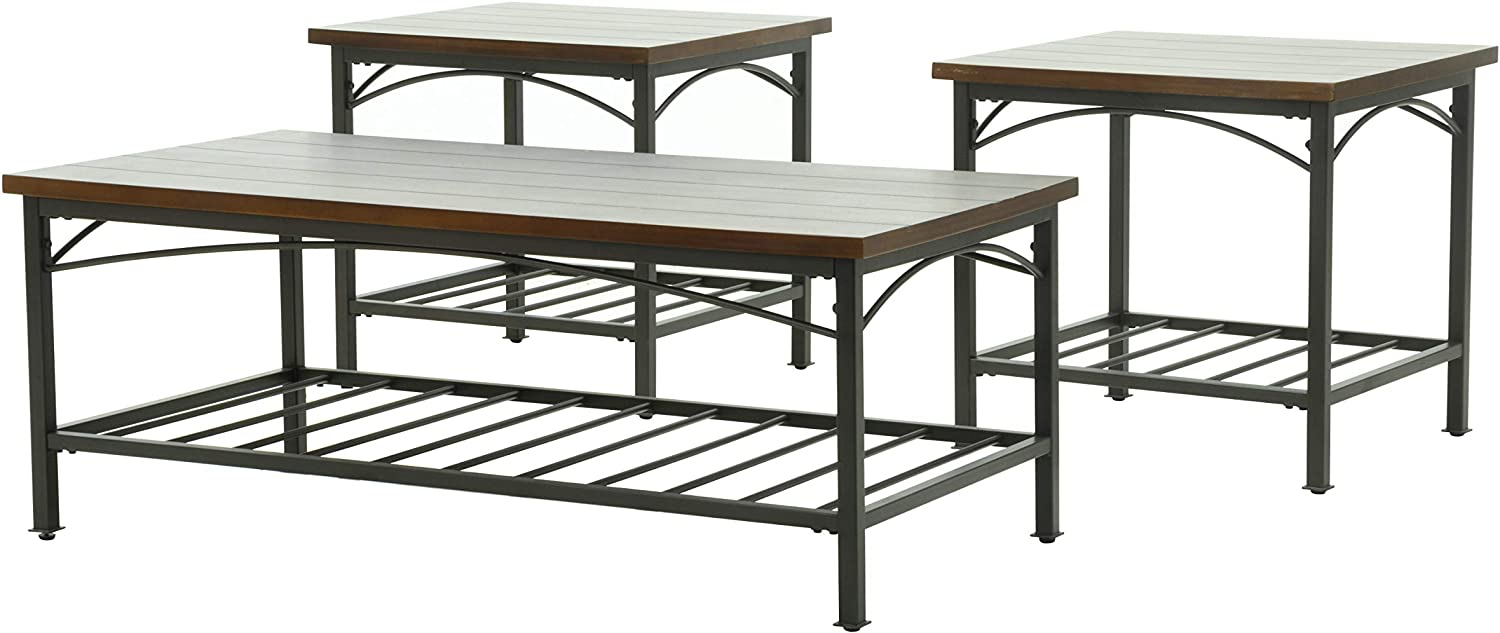 Knocbel 3-Piece Max 50% OFF Max 63% OFF Farmhouse Coffee Table Room Living for Sofa Set