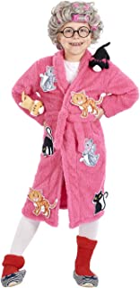 Crazy Cat Lady Kids Costume   Robe & Wig Set   One Size Fits Up to Size 10