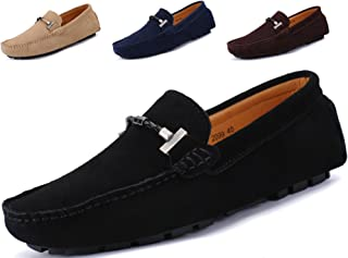a0af54f2f3d Go Tour Men s Penny Loafers Moccasin Driving Shoes Slip On Flats Boat Shoes