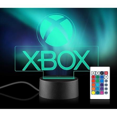 Xpassion Game Player Geschenk 3D Illusion Nachtlicht 16 Multicolors USB Wechsel LED Tisch Schreibtischlampe Xbox Gamer Dekor Licht mit Fernbedienung für Kinder Weihnachten Halloween Geburtstag