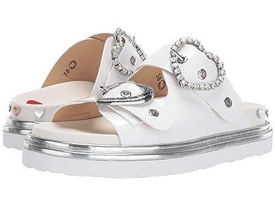 LOVE Moschino Heart Buckle Sandal (White) Women