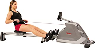 Sunny Health & Fitness Unisex Adult SF-RW5854 Programmable Magnetic Rower - Silver, One Size