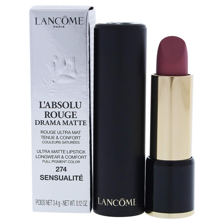 然とした仮装ネコランコム L'Absolu Rouge Drama Matte Lipstick - # 274 Sensualit?L8021200 3.4g/0.12oz並行輸入品