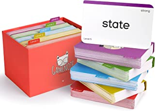 Gamenote 520 Sight Words Flash Cards with Card Folders & Storage Box - Dolch Fry High Frequency Site Word for Pre-k Kinder...
