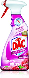 DAC Trigger Multi-Purpose Cleaner Spray - Rose (500ml), for Germs and Bacteria Removal, Dirt Repel Technology and Long-Las...