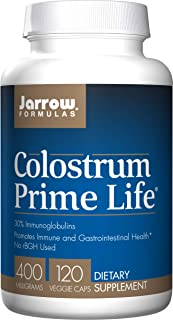 Jarrow Formulas Colostrum Prime Life, Promotes Immune & Gastrointestinal Health*, 500 Mg, 120 Capsules
