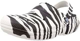 Unisex-Adult Classic Lined Animal Print Clog | Fuzzy Slippers