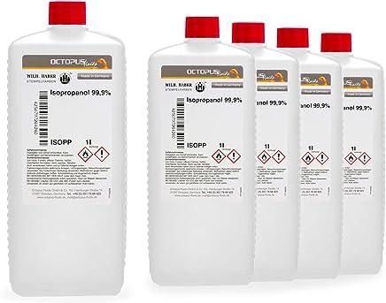 Confronta prezzi 5 litro di isopropanolo 99,9%, alcool isopropilico 2-propanolo IPA, il detergente universale per la pulizia profonda, lo sgrassaggio e la decolorazione per la casa, il tempo libero e l'industria. - Informatica
