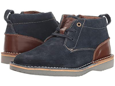Florsheim Kids Navigator Chukka Jr. (Toddler/Little Kid/Big Kid) (Navy Suede/Brown) Boys Shoes