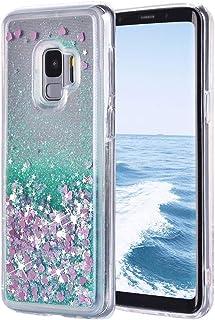 MoreChioce Compatible avec Coque Galaxy S9 Etui en Cuir,3D Hibou Rabat Flip Cover avec Diamant /Étui de Protection Rabattable Magn/étique Compatible pour Samsung Galaxy S9-Diamant,Brun Rouge