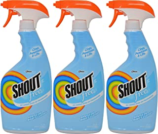 Shout Laundry Stain Remover Dye & Fragrance Free 22 oz (3 Pack)