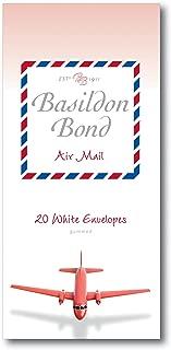 Basildon Bond P4TO 89 x 187 mm Gummed Envelope - Airmail White (Pack of 20)