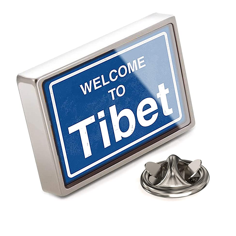 NEONBLOND Lapel Pin Sign Welcome to Tibet