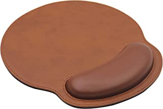 Ergonomic Mouse Pad with Wrist Support,PU Leather Mousepad for Laptop Computers & Mac,Non-Slip Rubber Base Memory Foam Wri...