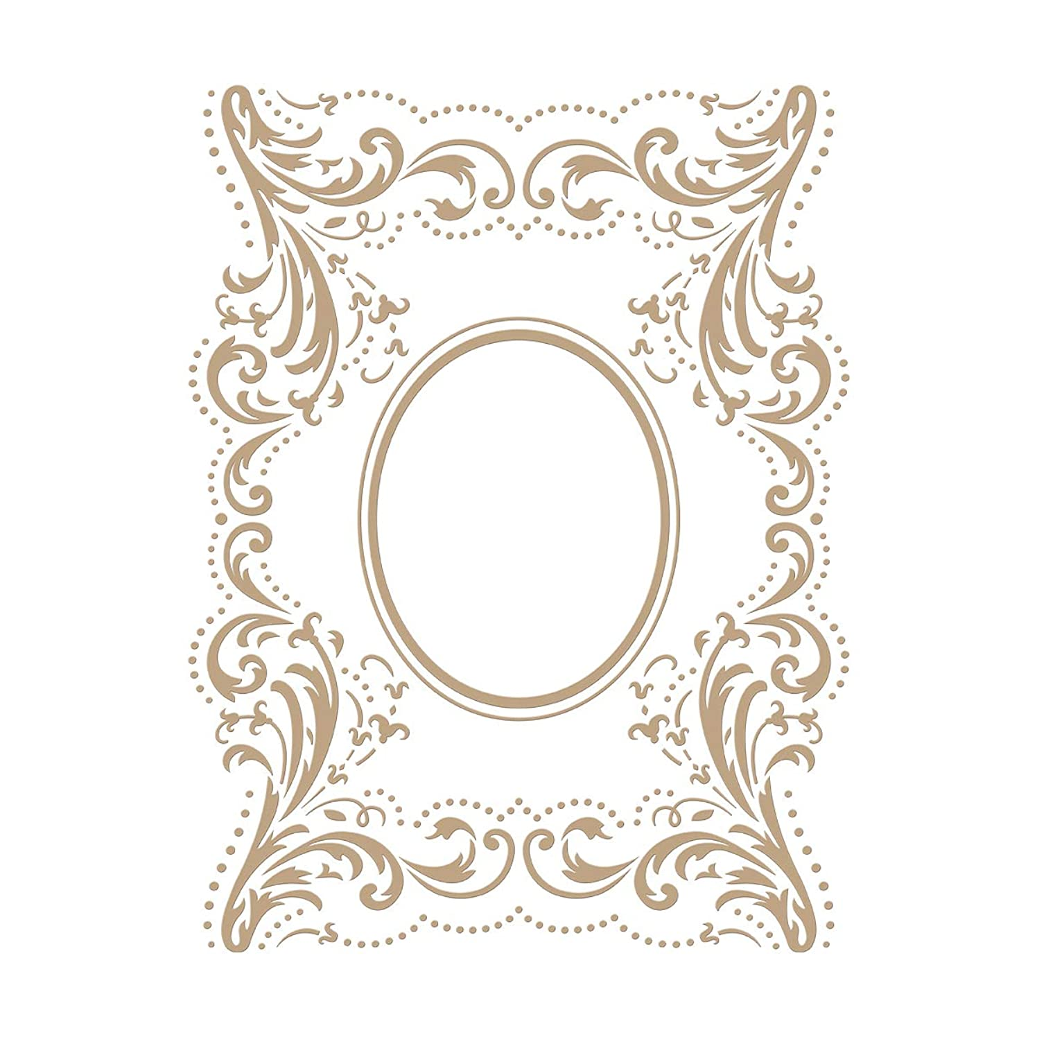 Spellbinders GLP-129 The The Contessa's Seal Panel Glimmer Hot Foil Plate, Metal
