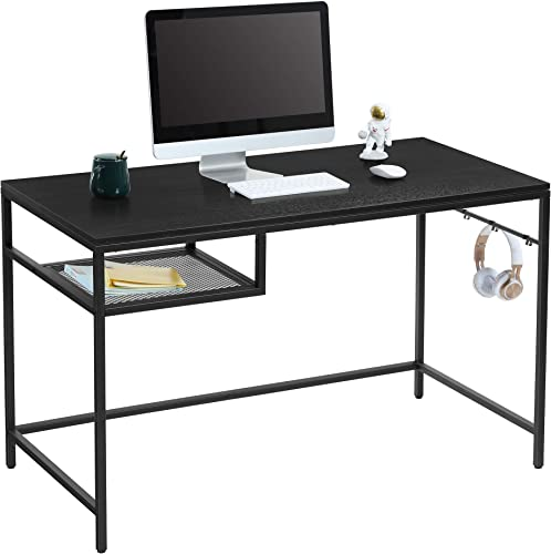"""lowest Yifeel Computer online Table,47.2"""" Writing Desk for Home Office Notebook Desks with online sale Shelves,Industrial Simple Style Laptop Table,Black outlet online sale"""