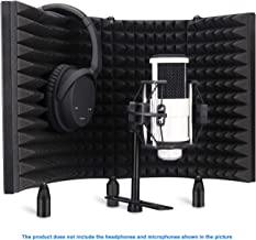 Aokeo Professional Studio Recording Microphone Isolation Shield, Pop Filter.High density..