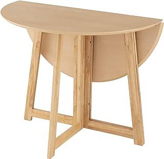 ドウシシャ(DOSHISHA) ダイニングテーブル ナチュラル 幅90×奥行90×高さ72cm 折りたたみテーブル 丸型 天然木 DT90R-NA