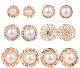 Assorted Boho Stud Earring Sea Shell Flower Faux Pearl Planet Stone Punk Pack Set 4-12Pcs with Card