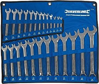 Silverline SP100 ringskiftnyckel, 25 delar set 6–32 mm
