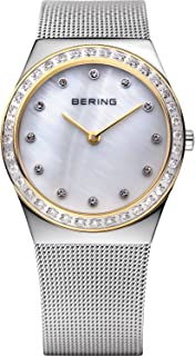 BERING Time 12430-010 Classic Collection Slim Watch with Mesh Strap and Scratch Resistant Sapphire Crystal. Designed in Denmark.