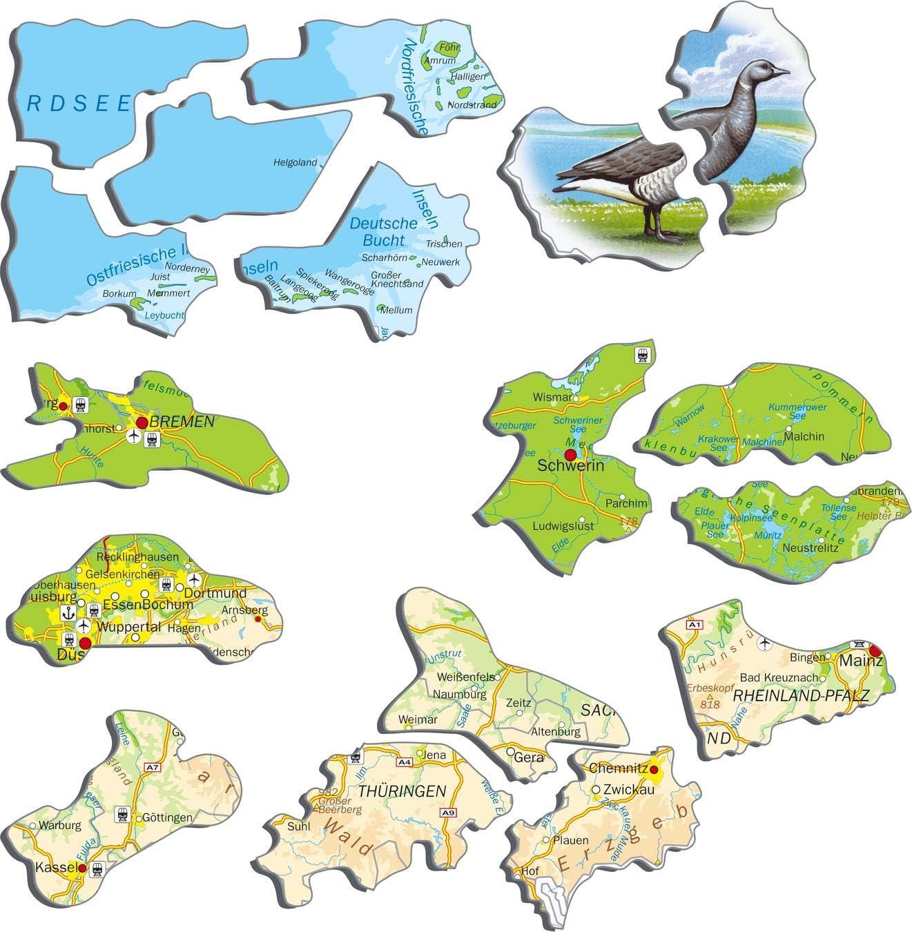 Larsen K72 Viajar en Alemania Puzzle de Marco con 91 Piezas edici/ón en Alem/án