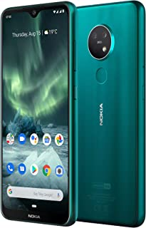 Nokia 7.2 Android One Smartphone (Official Australian Version) 2019 4G Unlocked Mobile Phone with Dual Sim, 48MP Triple Camera, Zeiss Optics, Pure Display, 2-Day Battery, 128GB, Cyan Green