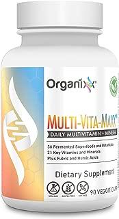 Organixx - Multi-Vita-Maxx - Whole Foods Multivitamin for Men and Women - B12, Calcium, Vitamin D, Vitamin C and More - Plus 36 Superfoods (90 Capsules)