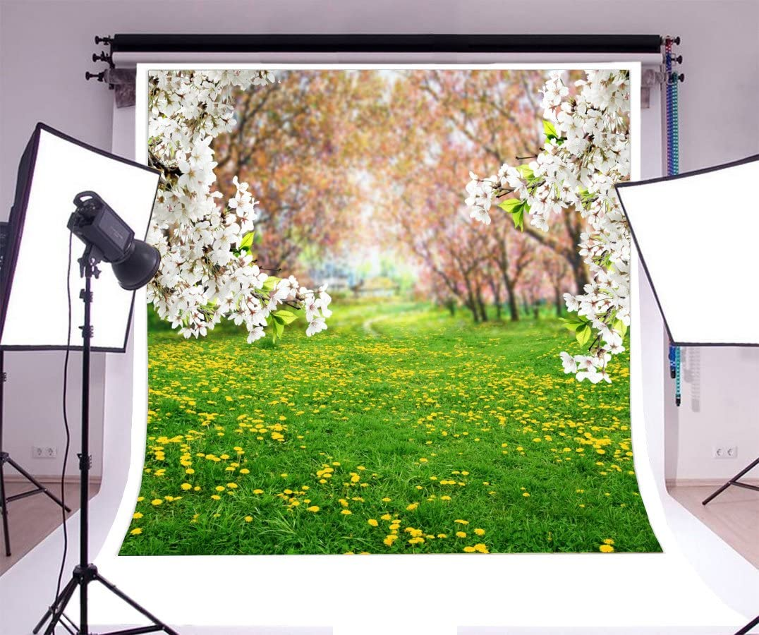 8x8FT Vinyl Photo Backdrops,Nature,Bonsai Tree Flowers Leaves Background for Selfie Birthday Party Pictures Photo Booth Shoot