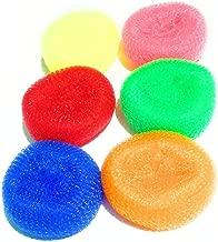 IMPROVHOME Nylon Round Plastic Scrubber -Set of 6