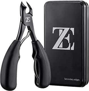 EZVOV Toenail Clipper for Thick or Ingrown Toenail Tool Heavy Duty Nail Clippers Surgical Sharp Blade Fingernail Clippers - Double Spring - One Back Up