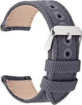 9 Colors for Quick Release Watch Band, Fullmosa Military Canvas Watch Strap 14mm 16mm 18mm 20mm 22mm 24mm Watch Bands for Men Women
