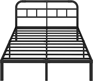 ZIYOO 14 inch Steel Slat Platform Bed Frame with Headboard,3000lbs Heavy Duty, Non-Slip Design, Strengthen Support Mattress Foundation, Quiet Noise Free, King
