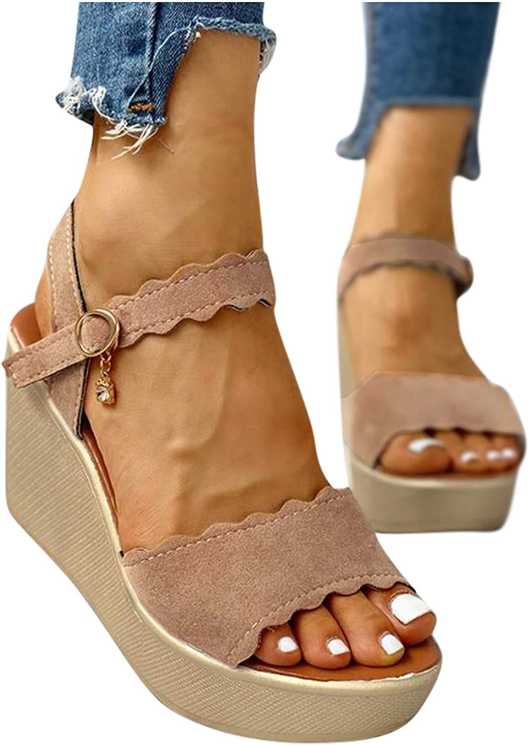 Hgndbloo High Platform Sandals for Open Max 80% OFF Toe Women Max 77% OFF Slippers Wedge