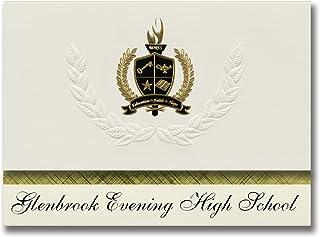 Signature Announcements Glenbrook Evening High School (Glenview, IL) Graduation Announcements, Presidential style, Basic p...