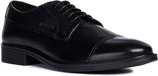 Geox Men's Man Gladwin 2 Cap Toe Lace Up Dress Shoe, Blk, Black Oxford, 41 M EU (8 US)