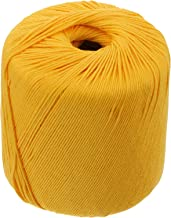 EXCEART Katoen Breien Draad Geel Gehaakte String Cords Quilten Borduren Threads Diy Gehaakte Katoen Garen Roll Voor Kledin...