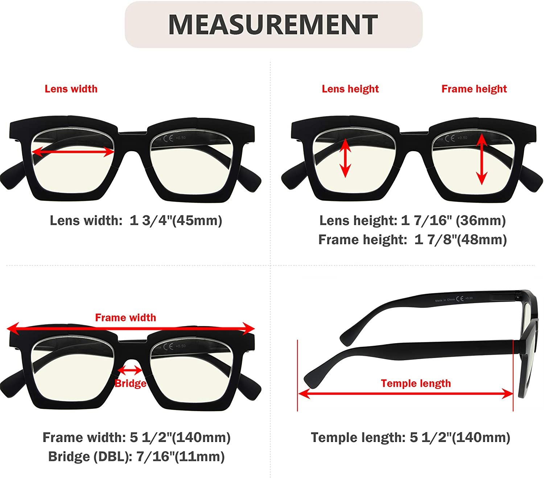Eyekepper Blue Light Filter Reading Glasses Design Readers Women's  Eyeglasses Block Blue Rays