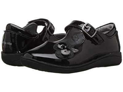 Stride Rite Ava (Toddler) (Black Patent) Girls Shoes
