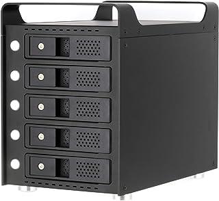 【1年保証】USB3.1 Type-C接続 SATA HDDが5台搭載可能なアルミ製ハードディスクケース ATLUS 5Bay SATA HDD Enclorsure Version2.0 AT02B