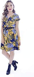 Vestido Mania de Sophia Curto Tropical Mostarda