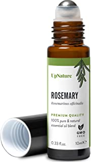 Rosemary Essential Oil Roll-On – Healthy Hair Growth, Improve Focus and Memory, Aromatherapy Therapeutic Grade, Pre-Dilute...