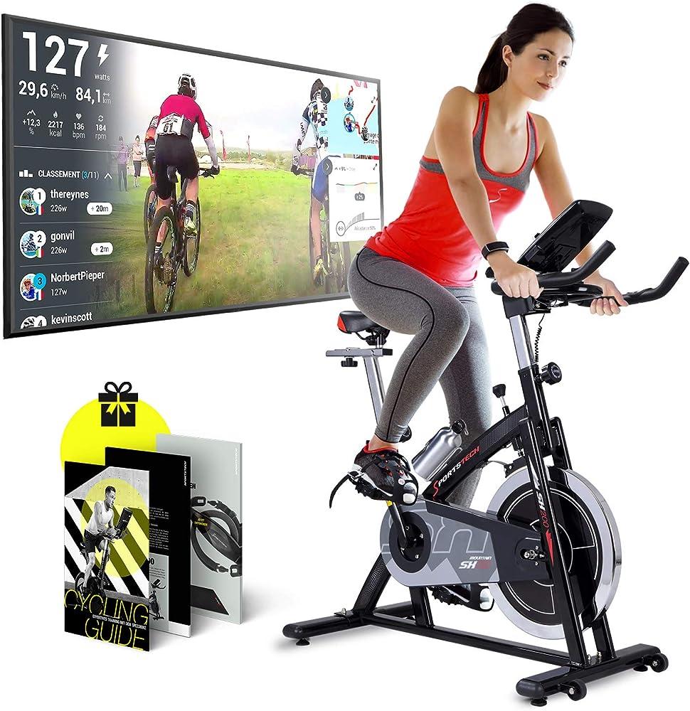 Sportstech sx200 cyclette professionale,  eventi video e multiplayer app, ergometro con trasmissione a cinghia sp_sx200_us