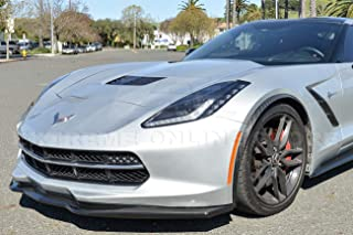 Extreme Online Store Z06 Stage 2 Style ABS Plastic Painted Carbon Flash Metallic Front Bumper Lower Lip Splitter for 2014-2019 Chevrolet Corvette C7