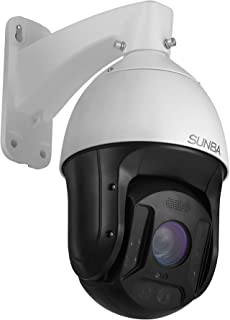 SUNBA 25X Optical Zoom 1080p IP PoE+ Outdoor PTZ Camera, Built-in Mic High Speed ONVIF Security PTZ Dome, Auto-Focus and up to 1000ft Night Vision (601-D25X)