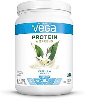 Vega Protein and Greens, Vanilla, Plant Based Protein Powder Plus Veggies - Vegan Protein Powder, Keto-Friendly, Vegetaria...